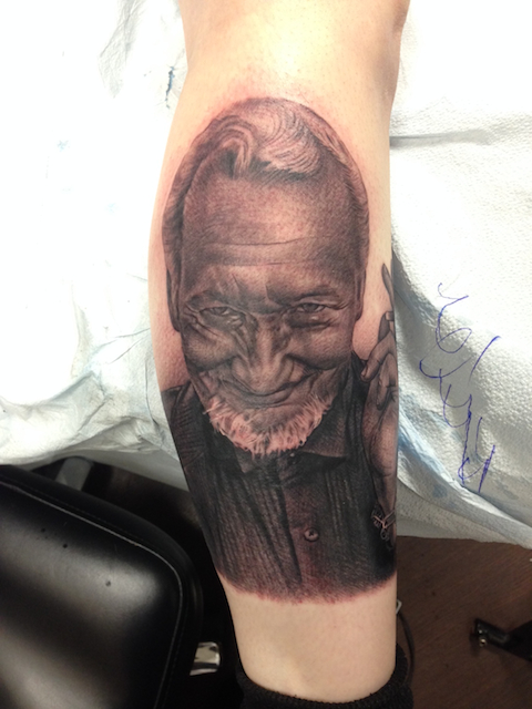 Robert Englund tattoo 2